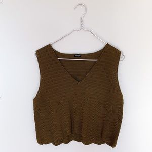Rachel Comey Knit Sleeveless Olive Crop Top